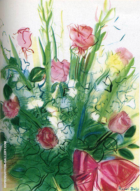 Bouquet of Roses Painting By Raoul Dufy - Reproduction Gallery