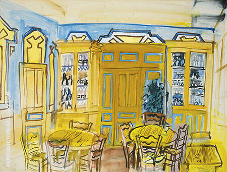 Cafe Scene By Raoul Dufy