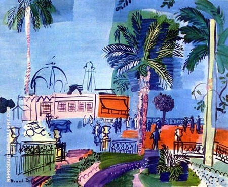 Casino at Nice 1927 Painting By Raoul Dufy - Reproduction Gallery