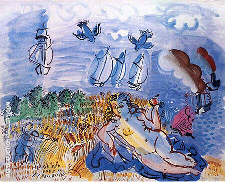 Ceres by The Sea 1928 By Raoul Dufy