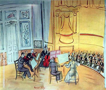 Chamber Music 1948 Painting By Raoul Dufy - Reproduction Gallery