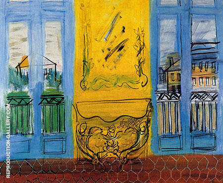 Console with Two Windows 1948 Painting By Raoul Dufy