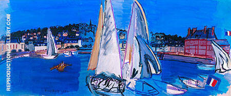 Deauville Drying The Sails 1933 Painting By Raoul Dufy