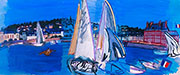 Deauville Drying The Sails 1933 By Raoul Dufy