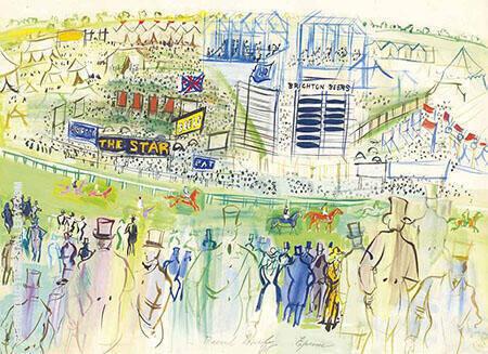 Epsom Le Champ de Courses vu des Tribunes By Raoul Dufy
