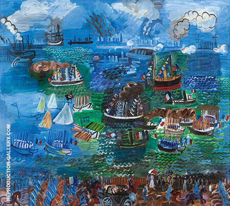 Fete Nautique au Havre 1925 Painting By Raoul Dufy - Reproduction Gallery