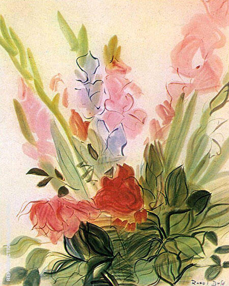 Gladioli 1942 Painting By Raoul Dufy - Reproduction Gallery