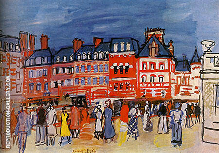 Houses in Trouville 1933 By Raoul Dufy