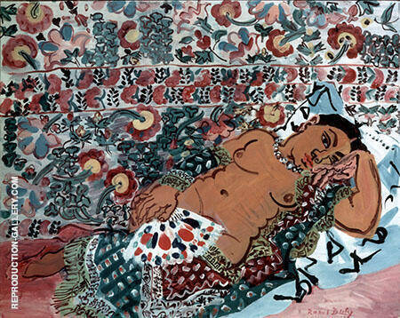 Indian Woman 1928 Painting By Raoul Dufy - Reproduction Gallery