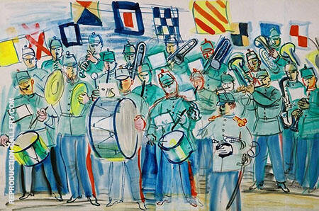 La Fanfare du Havre 1951 Painting By Raoul Dufy - Reproduction Gallery