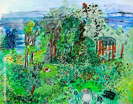 Landscape Villerville 1930 Painting By Raoul Dufy - Reproduction Gallery