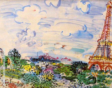 La Tour Eiffel 1935 By Raoul Dufy