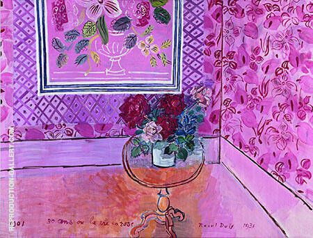 La vie en Rose 1931 By Raoul Dufy