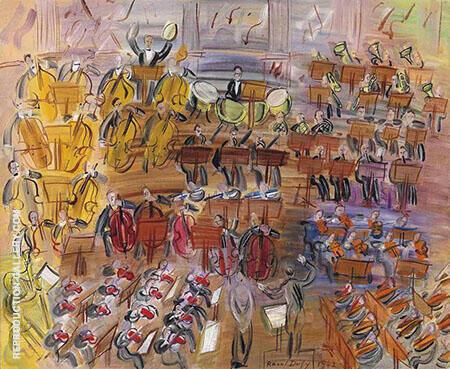 L Orchestre  la Chanteuse By Raoul Dufy