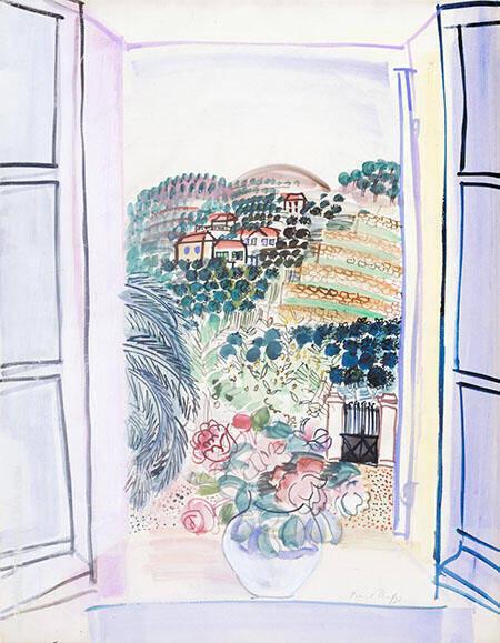 Open Window at Saint Jeannet c1926 By Raoul Dufy