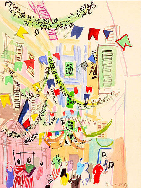 Palais de Mediterranee Nice Painting By Raoul Dufy - Reproduction Gallery