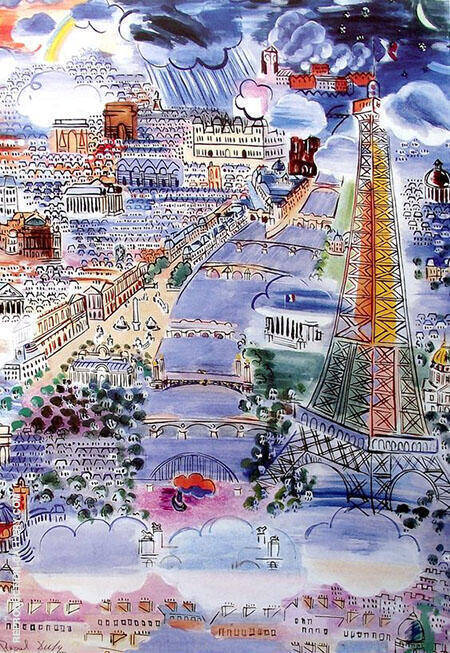 Paris View By Raoul Dufy