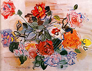 Pink Bunch 1940 By Raoul Dufy