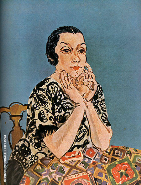 Portrait of Mrs Dufy 1930 By Raoul Dufy