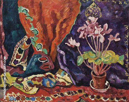 Pot of Cyclamens By Raoul Dufy