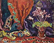 Pot of Cyclamens By Raoul Dufy