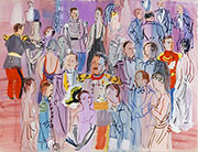 Reception at The Admiralty 1935 By Raoul Dufy