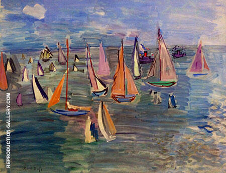 Regatta 1935 By Raoul Dufy