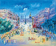 Rue Royale 1950 By Raoul Dufy