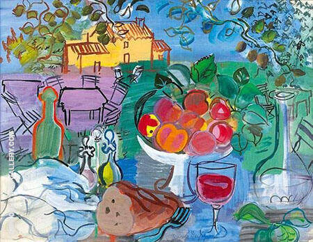 Still Life Before The Yellow House By Raoul Dufy