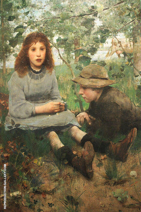 A Daydream By Edward Arthur Walton