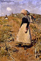 Berwickshire Field Workers 1884 By Edward Arthur Walton