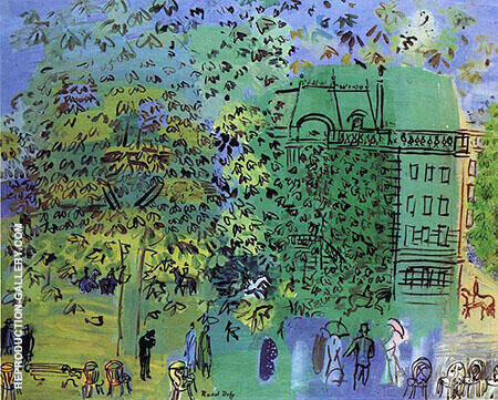The Avenue bois de Boulogne 1928 By Raoul Dufy