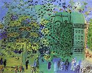 The Avenue bois de Boulogne 1928 By Raoul Dufy