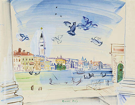The Grand Canal Venice 1938 By Raoul Dufy