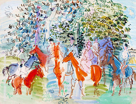 The Kessler Family on Horseback 1931 By Raoul Dufy