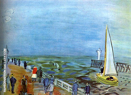 The Sea at Deauville By Raoul Dufy