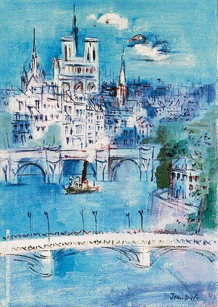The Seine at Notre Dame By Raoul Dufy