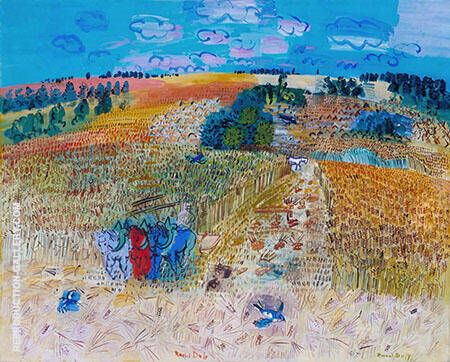 The Wheatfield 1929 By Raoul Dufy