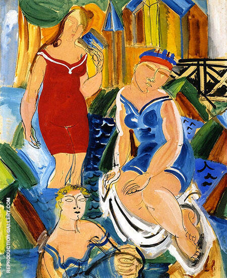 Three Bathers By Raoul Dufy