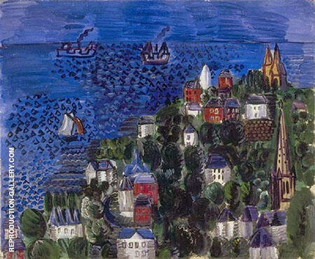 View of St Adresse 1924 By Raoul Dufy