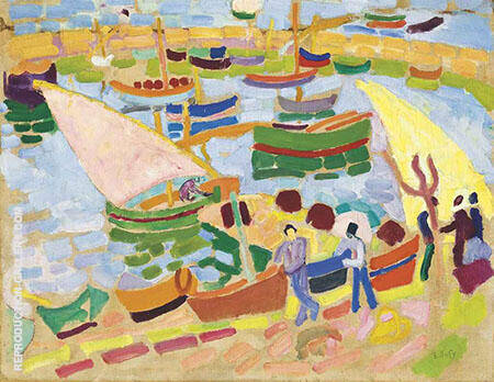 Voiliers et Barques Dans Le Port By Raoul Dufy