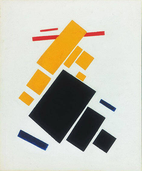Airplane Flying 1915 By Kazimir Malevich