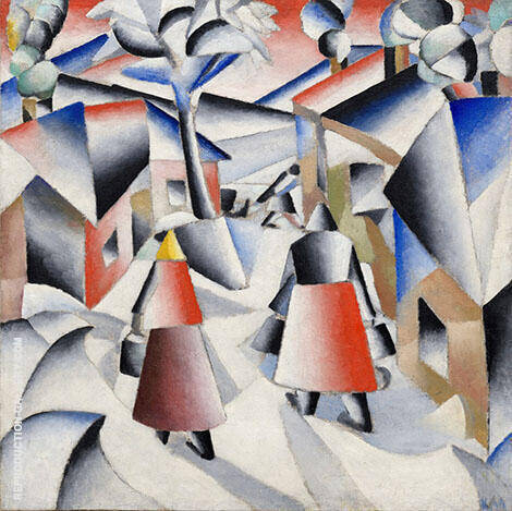 Morning in the Village after Snowstorm 1913 By Kazimir Malevich