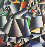 Woman with Pails Dynamic Arrangement By Kazimir Malevich
