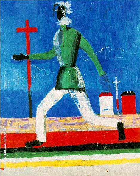 Running Man By Kazimir Malevich