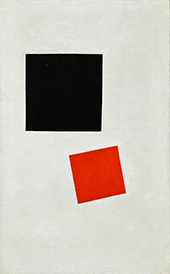 Boy with Knapsack Color Masses in the Fourth Dimension By Kazimir Malevich