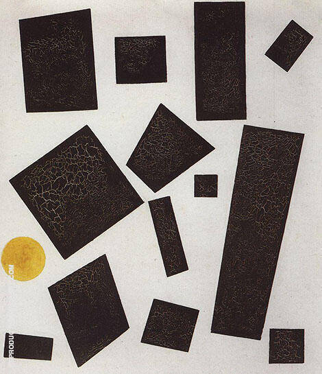 Suprematism 1915 C Painting By Kazimir Malevich - Reproduction Gallery