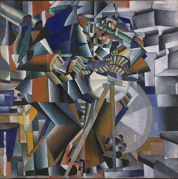 The Knife Grinder Painting By Kazimir Malevich - Reproduction Gallery