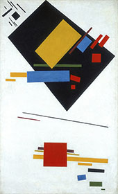 Suprematist Painting with Black Trapezium and Red Square 1915 By Kazimir Malevich