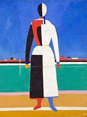 Woman with Rake 1930 By Kazimir Malevich